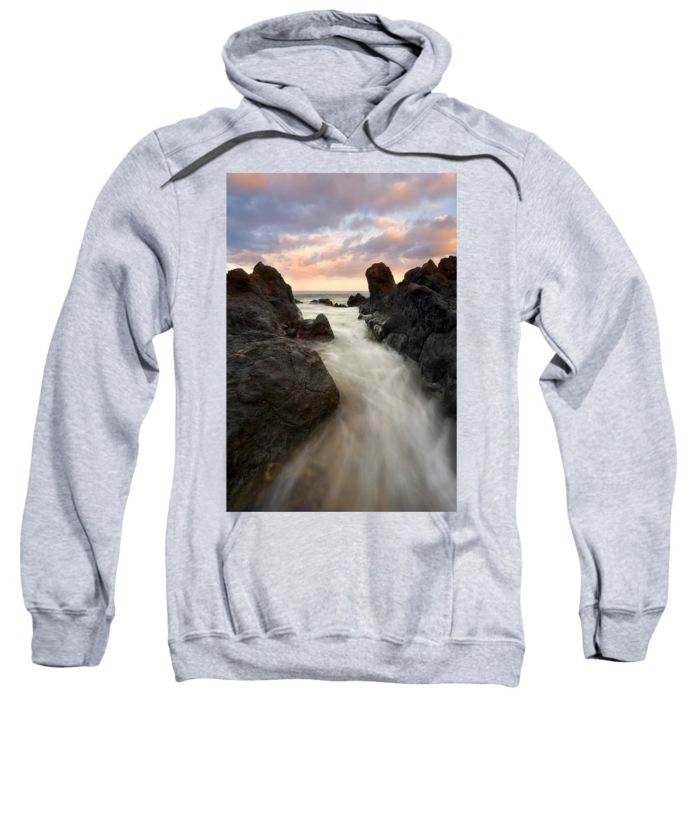 Sunrise Sweatshirt featuring the photograph Primordial Tides by Mike Dawson