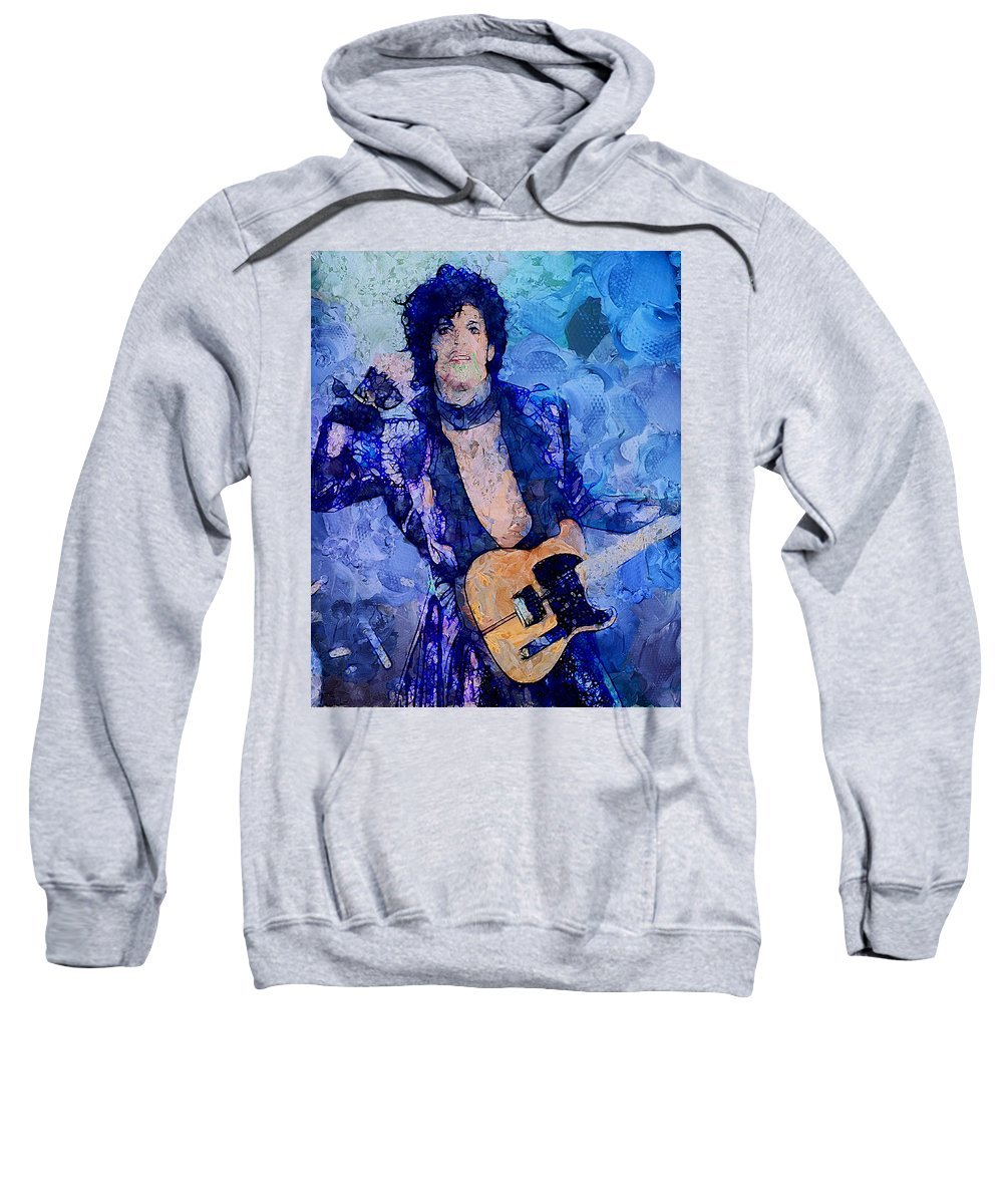 Prince Sweatshirt featuring the painting Prince by Galeria Trompiz