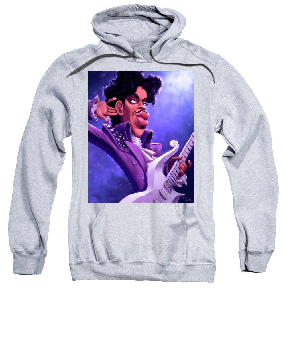 Prince Sweatshirt featuring the digital art Prince by Victor Navone