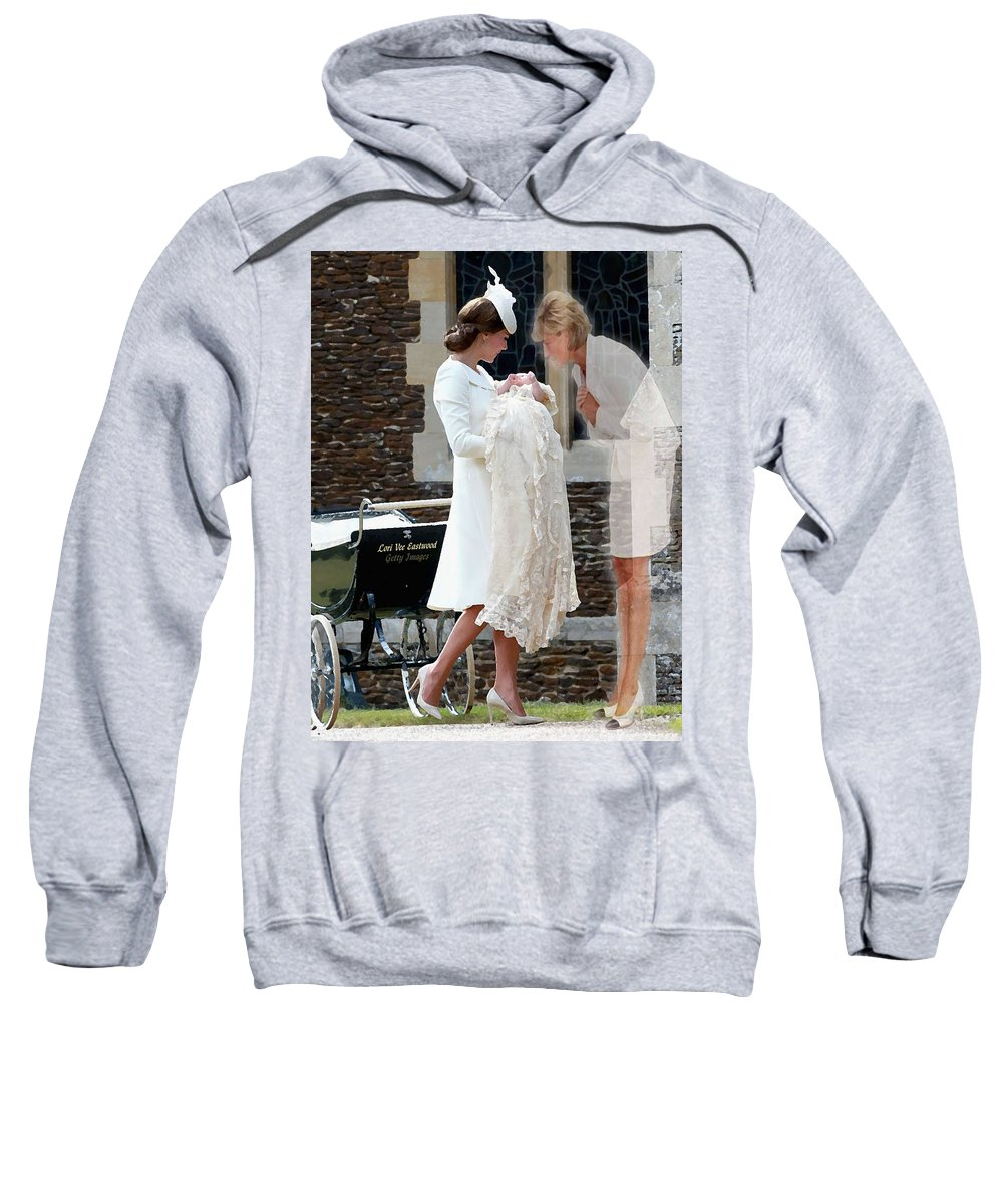 Princess Diana Sweatshirt featuring the painting Princess Diana - Viral Image by Lori Vee Eastwood Designs for Hope