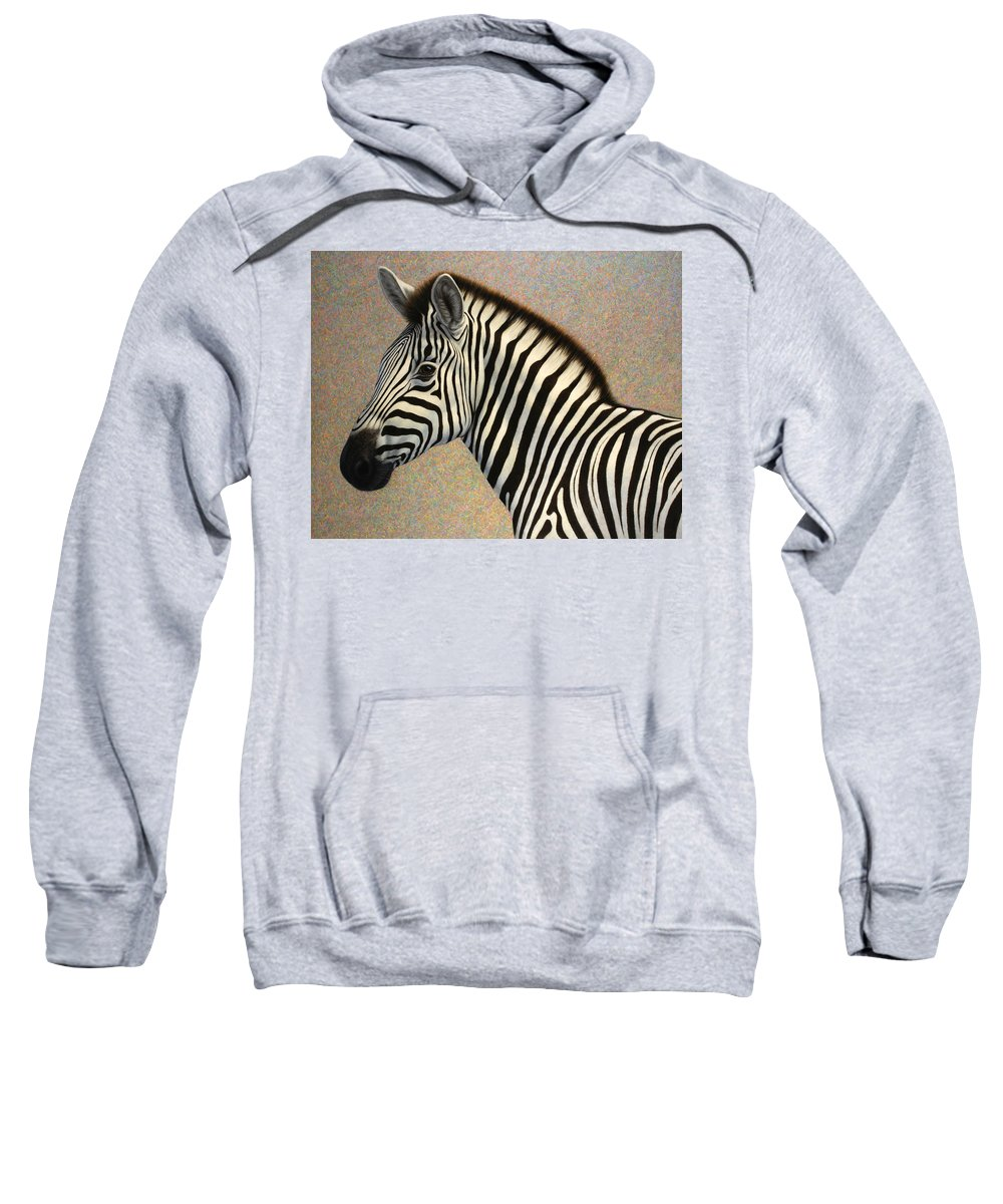 Zebra Sweatshirt featuring the painting Principled by James W Johnson