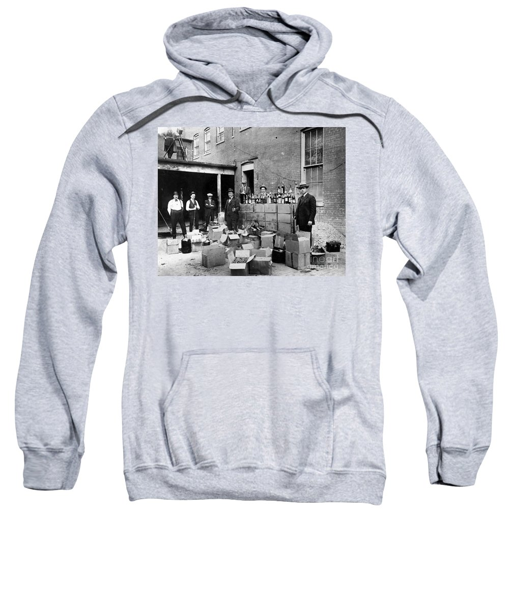 18th Amendment Sweatshirt featuring the photograph Prohibition, 1922 by Granger