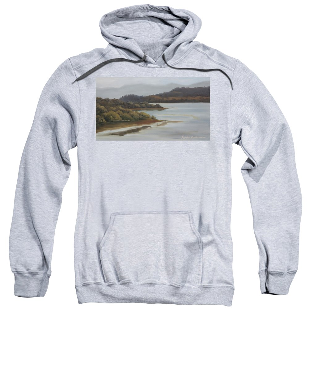 Promise Of A New Day Sweatshirt featuring the painting Promise Of A New Day by Mandar Marathe