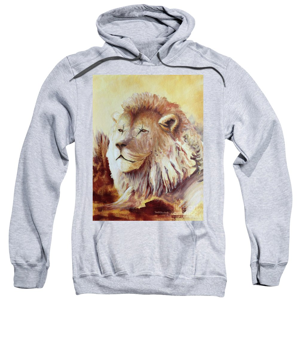 Animal Sweatshirt featuring the painting Proud by Todd Blanchard
