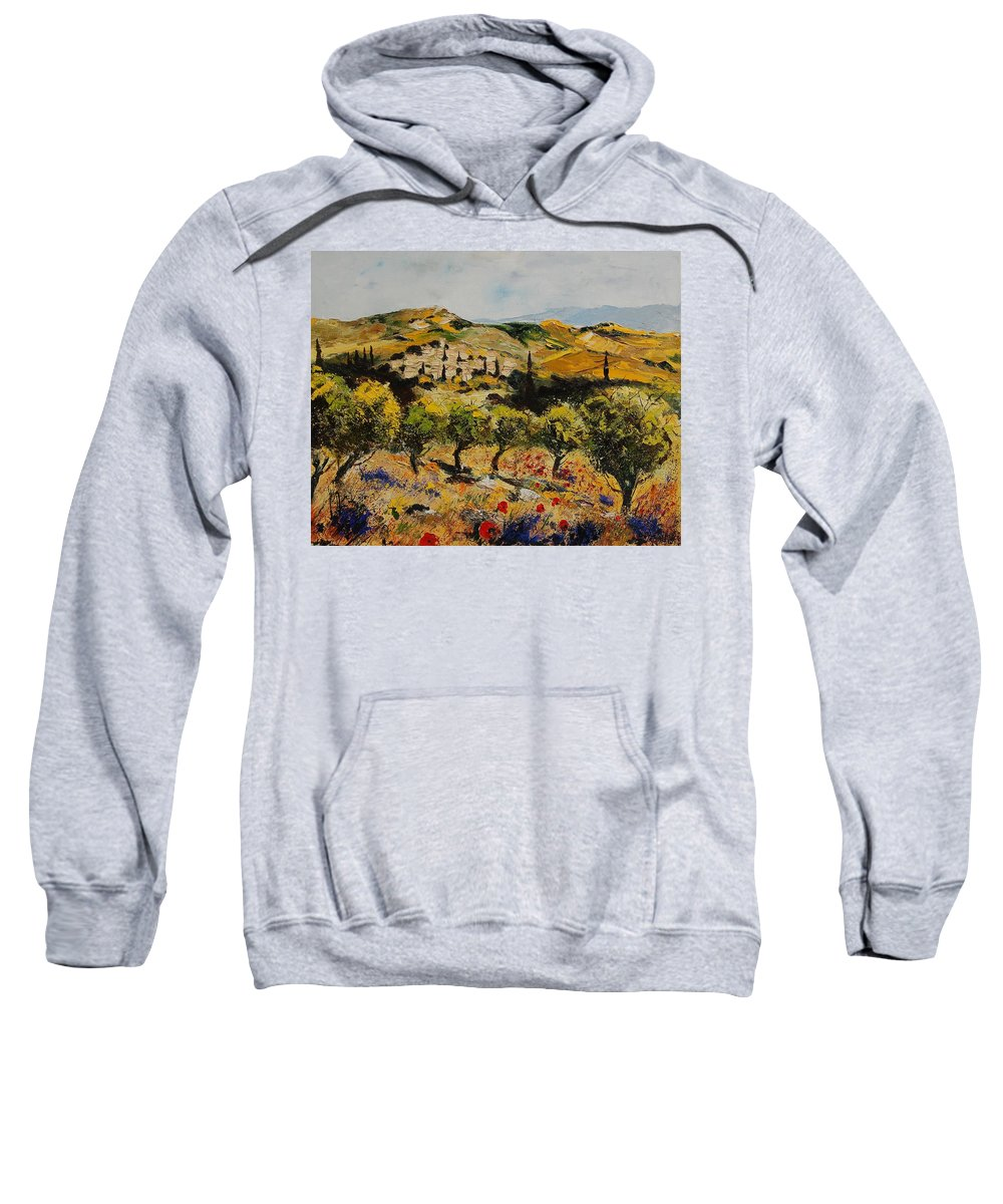 Provence Sweatshirt featuring the painting Provence 10080 by Pol Ledent