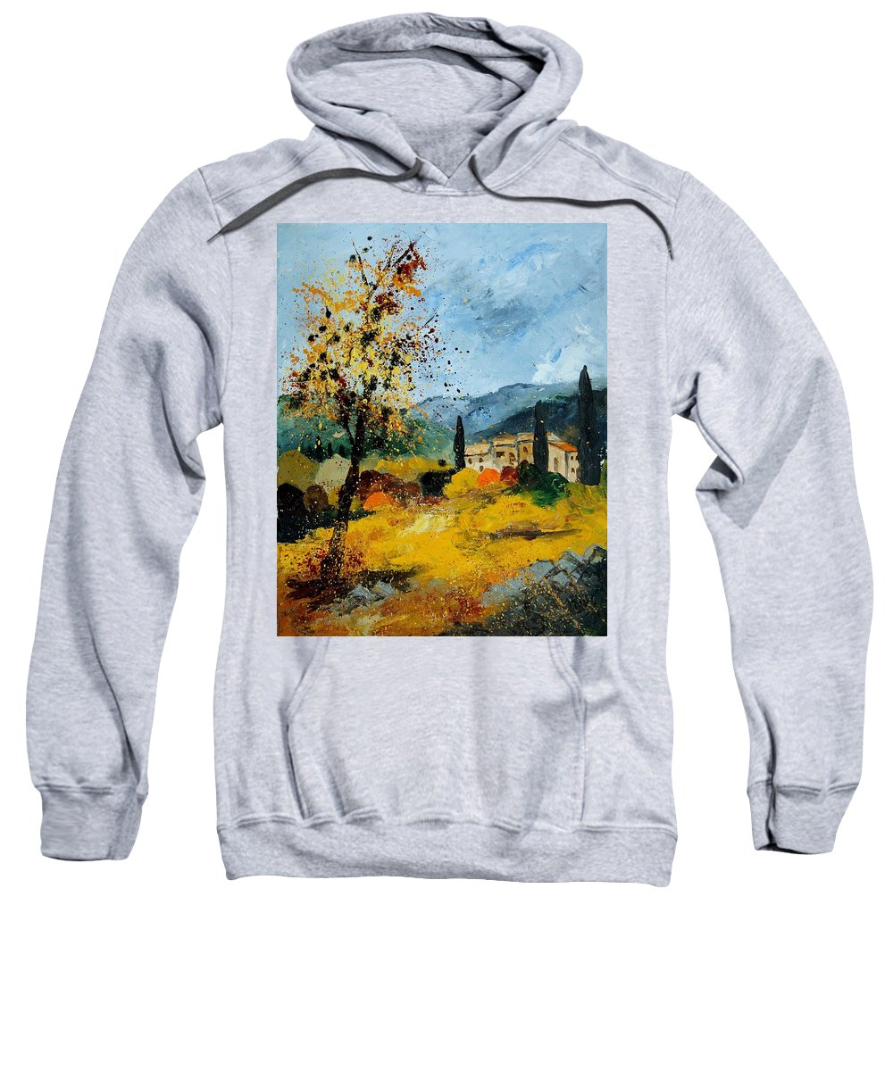 Provence Sweatshirt featuring the painting Provence 45 by Pol Ledent