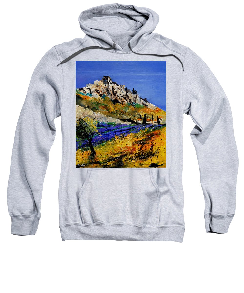 Flowers Sweatshirt featuring the painting Provence 560908 by Pol Ledent