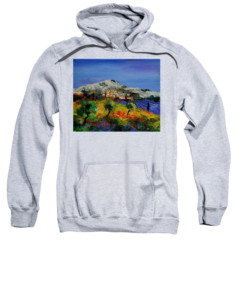 Provence Sweatshirt featuring the painting Provence 569010 by Pol Ledent