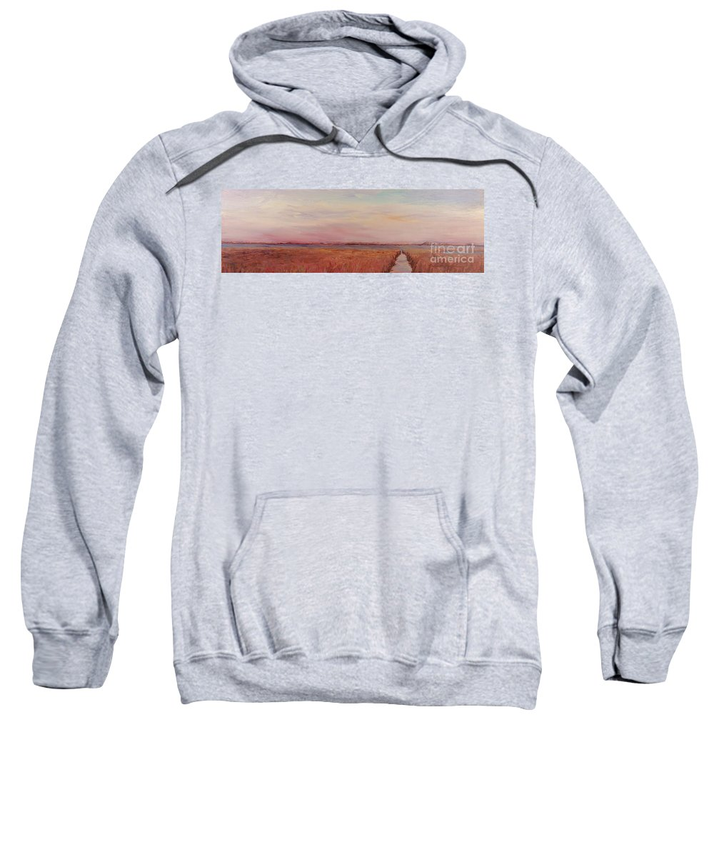 Landscape Sweatshirt featuring the painting Provence Camargue by Nadine Rippelmeyer