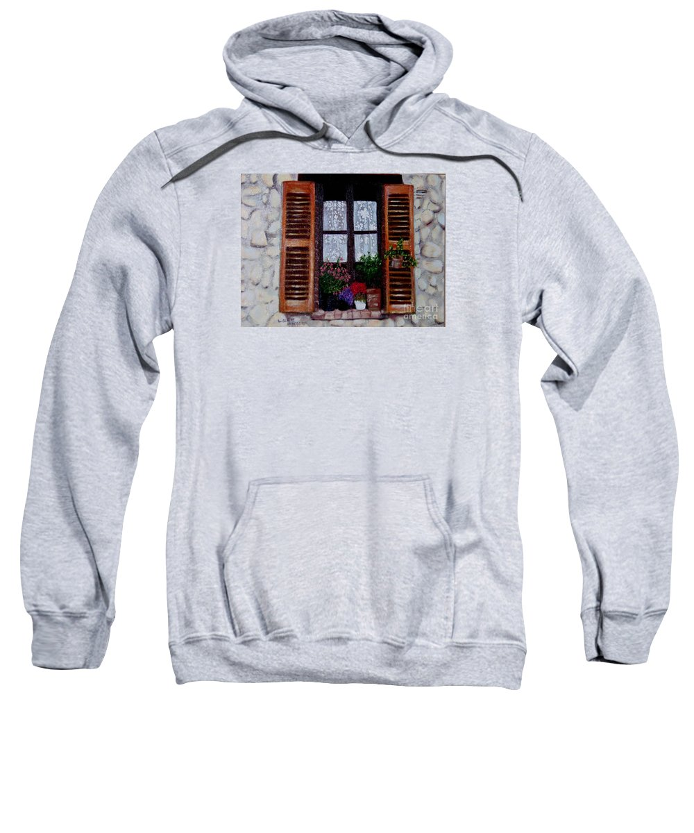 Provence Sweatshirt featuring the painting Provence Morning by Laurie Morgan