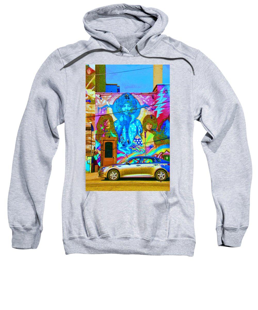 Rock Sweatshirt featuring the photograph Psychdelic Rockers by Allen Beatty