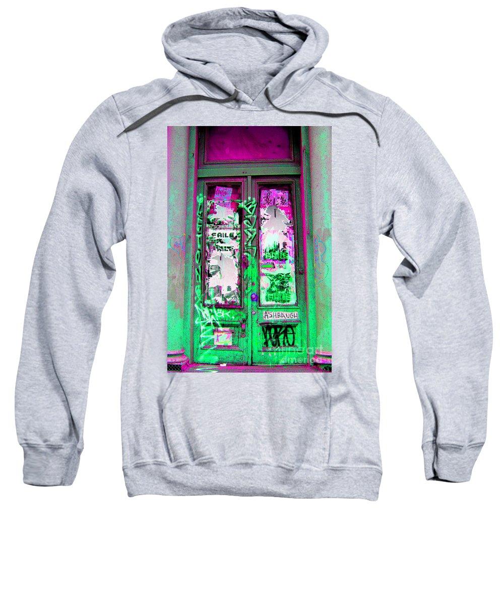 Door Sweatshirt featuring the photograph Psychedelic Door by Madeline Ellis