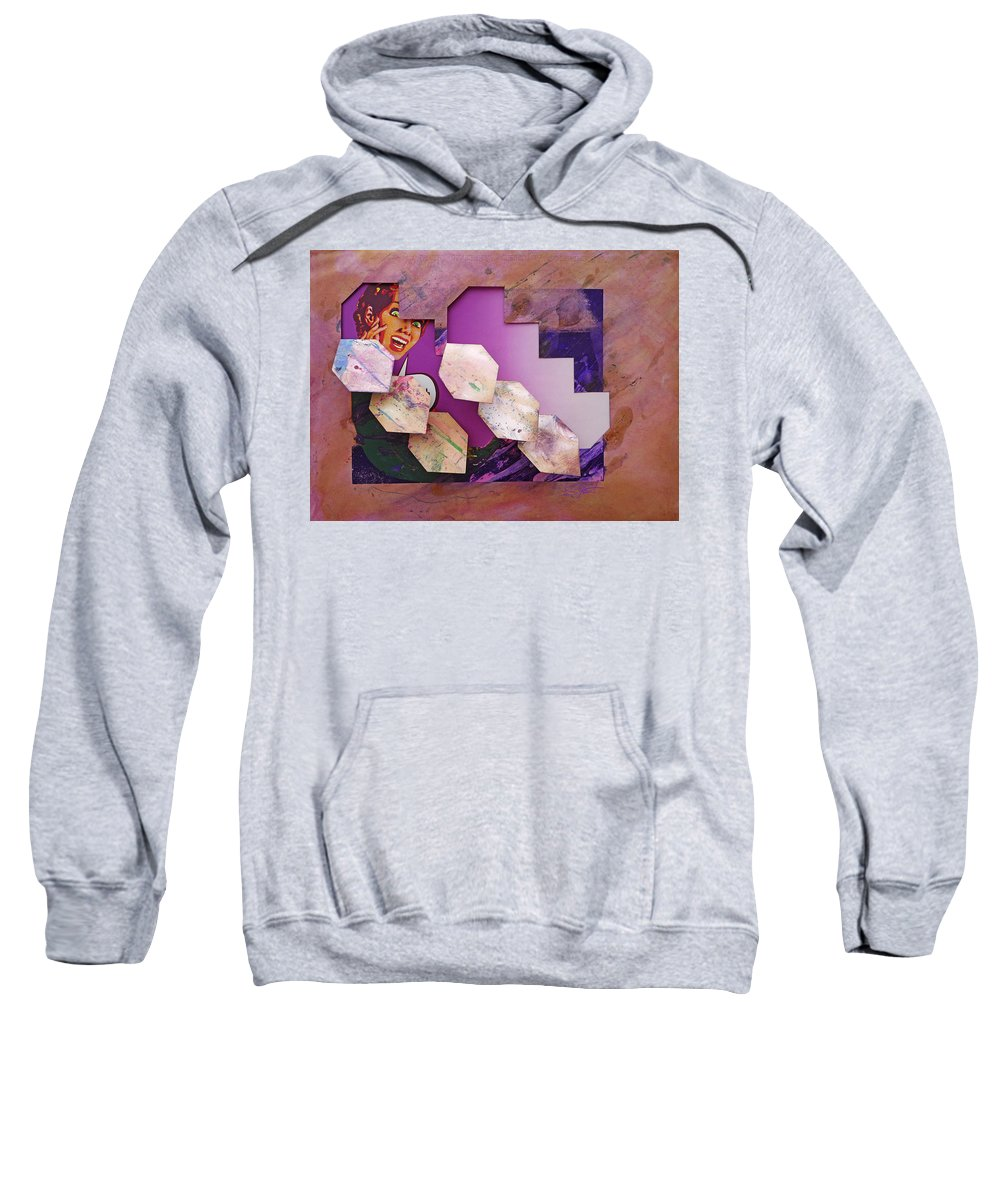 Psycho Sweatshirt featuring the painting Psycho 3d by Charles Stuart