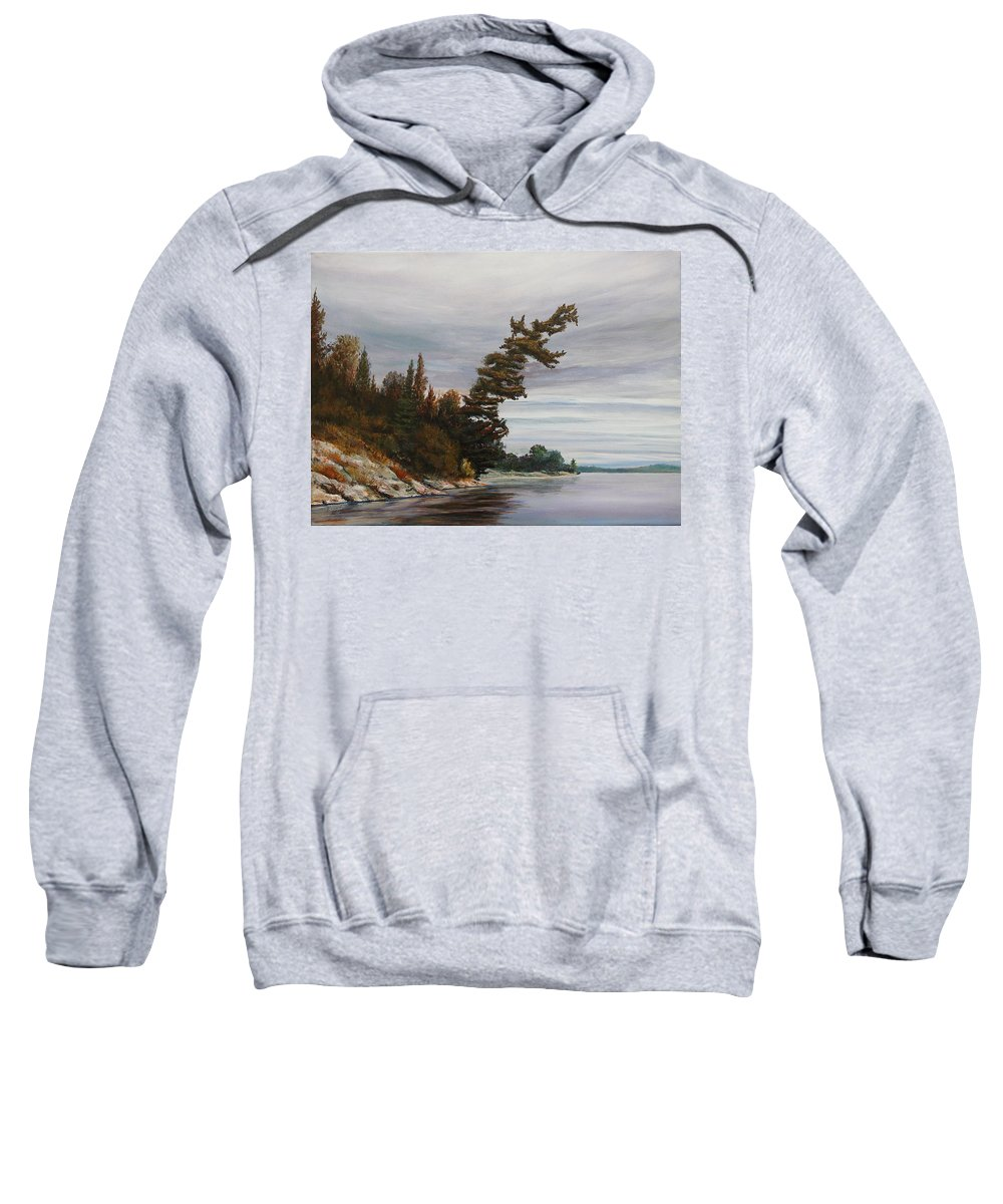 Landscape Sweatshirt featuring the painting Ptarmigan Bay by Ruth Kamenev