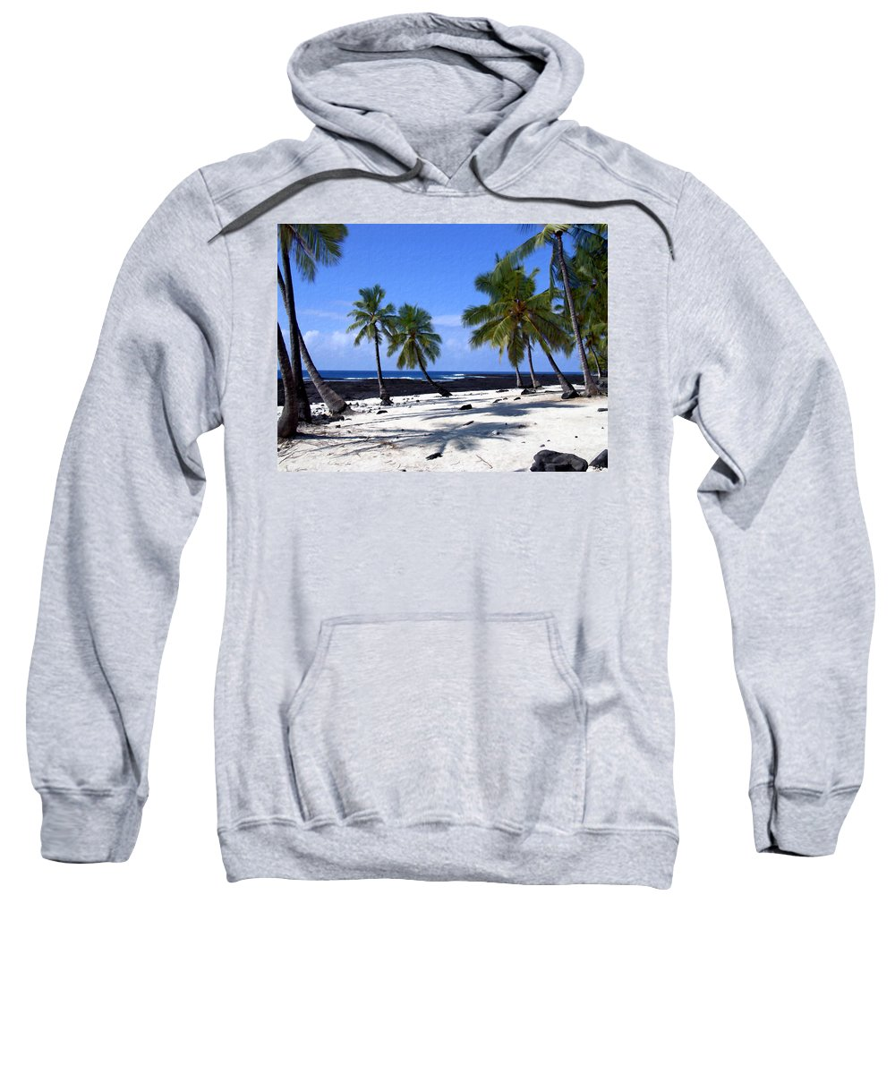 Hawaii Sweatshirt featuring the photograph Pu Uhonua O Honaunau by Kurt Van Wagner