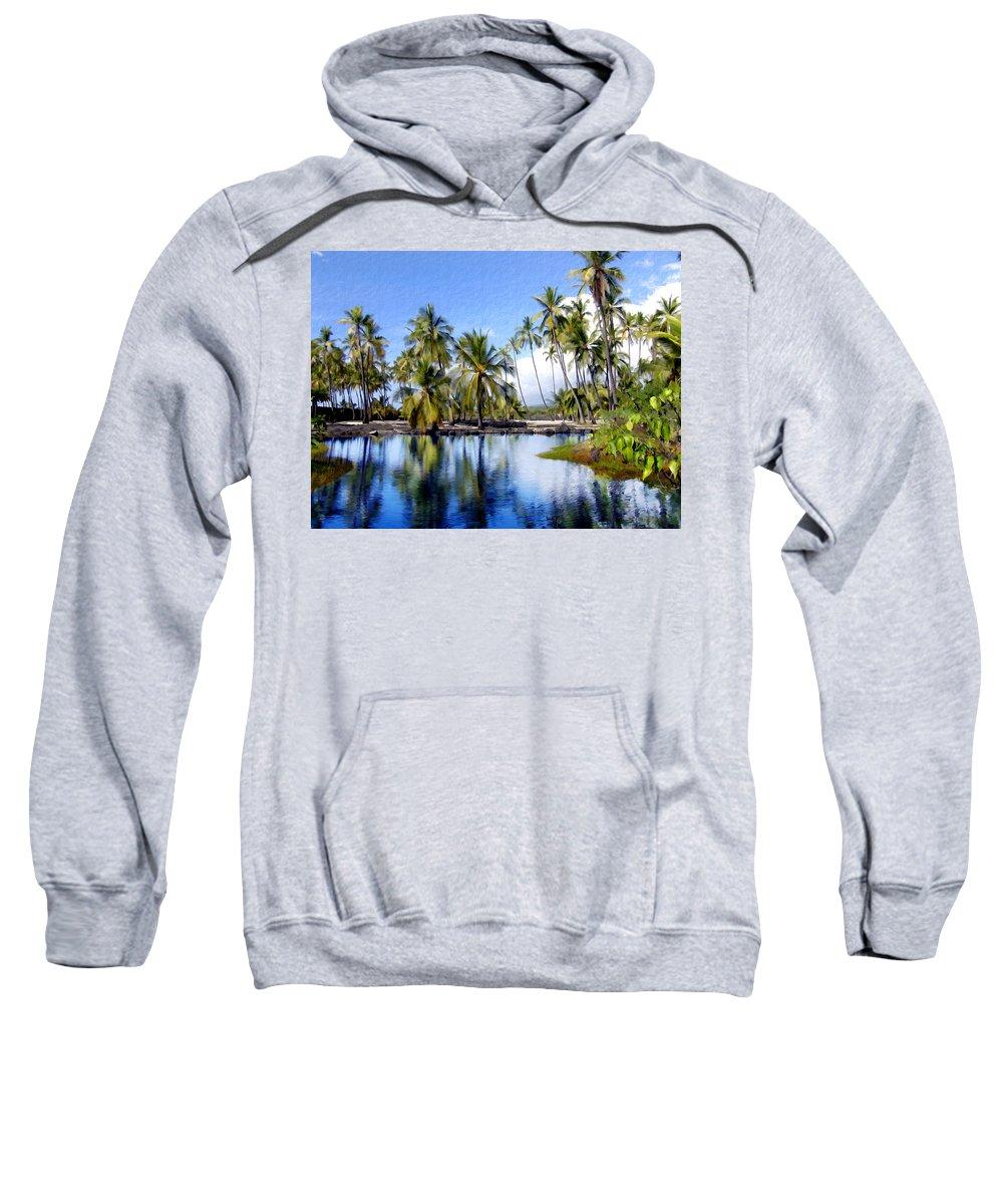 Hawaii Sweatshirt featuring the photograph Pu Uhonua O Honaunau Pond by Kurt Van Wagner