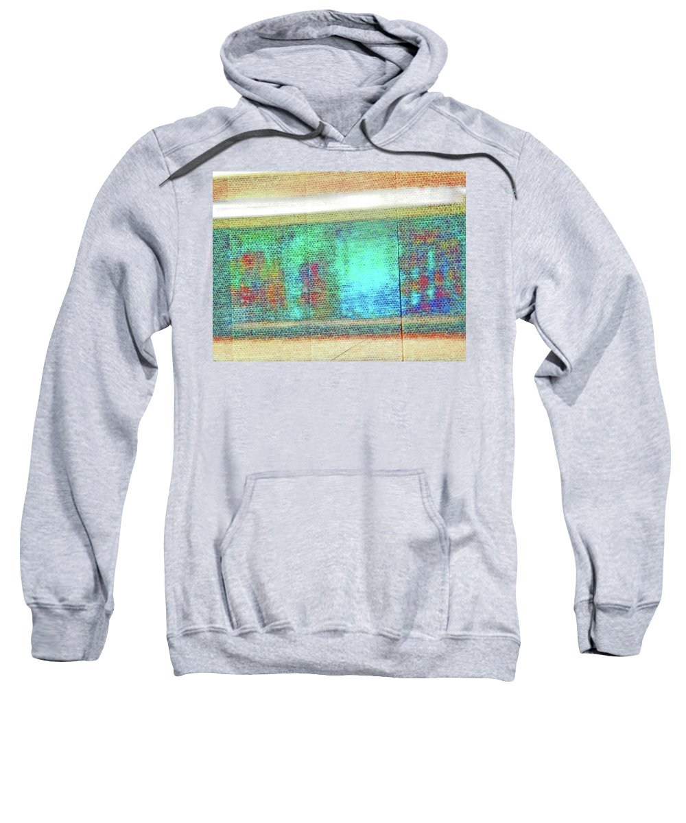 Abstract Sweatshirt featuring the photograph Pueblo Downtown Artwork Reflected by Lenore Senior