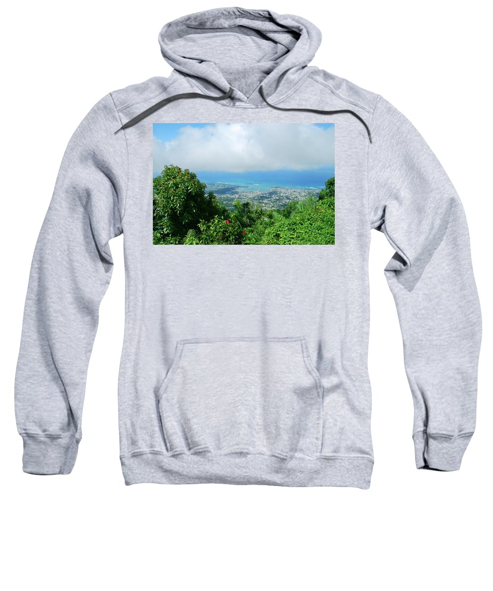 Sweatshirt featuring the photograph Puerto Plata Mountain View Of The Sea by Heather Kirk