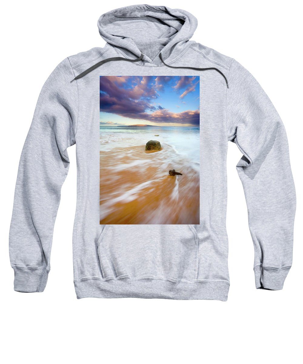 Cleat Sweatshirt featuring the photograph Pulled To The Sea by Mike Dawson