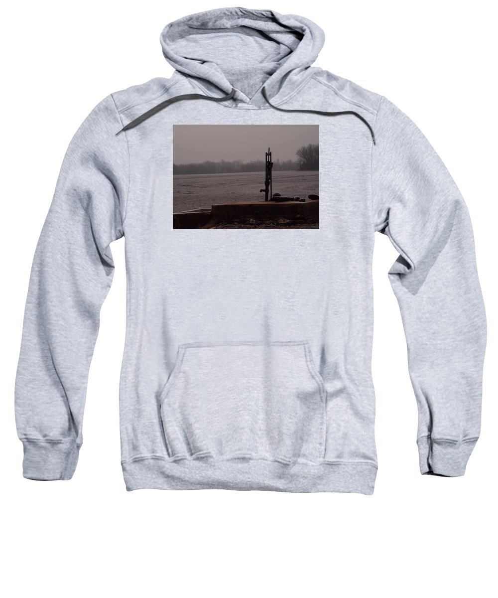 Landscape Sweatshirt featuring the photograph Pump From The Past by Pamela Peters