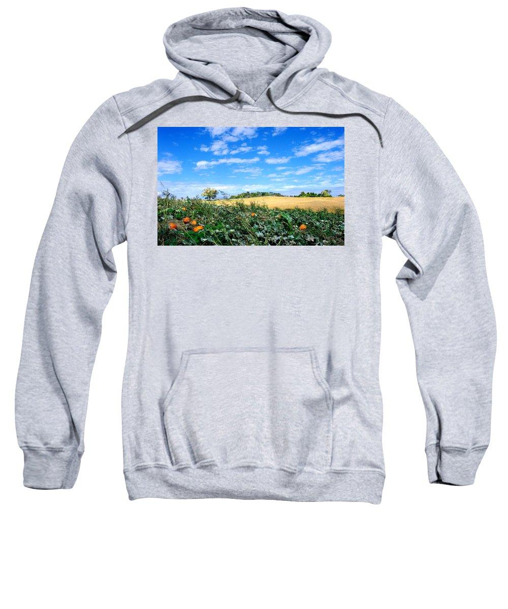 Landscape Sweatshirt featuring the photograph Pumpkin Patch by Steve Karol