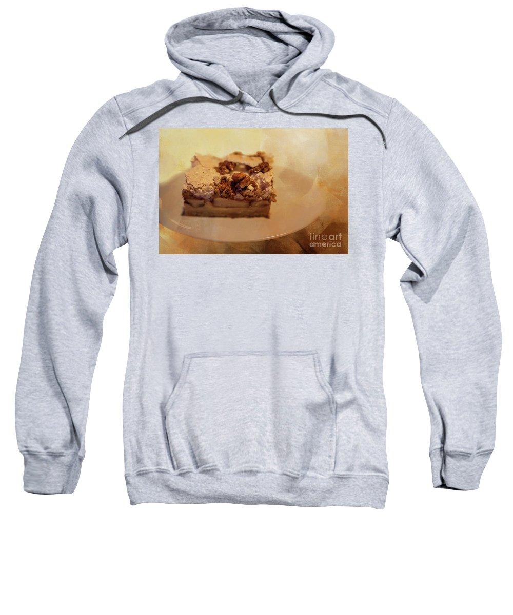 Pumpkin Pie Sweatshirt featuring the photograph Pumpkin Pie With Walnuts by Eva Lechner