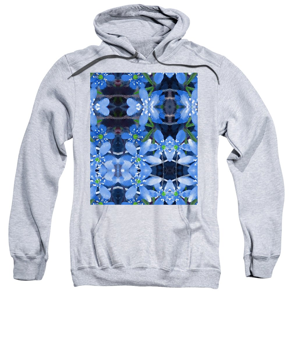 Flowers Sweatshirt featuring the mixed media Pure For Life by Pepita Selles