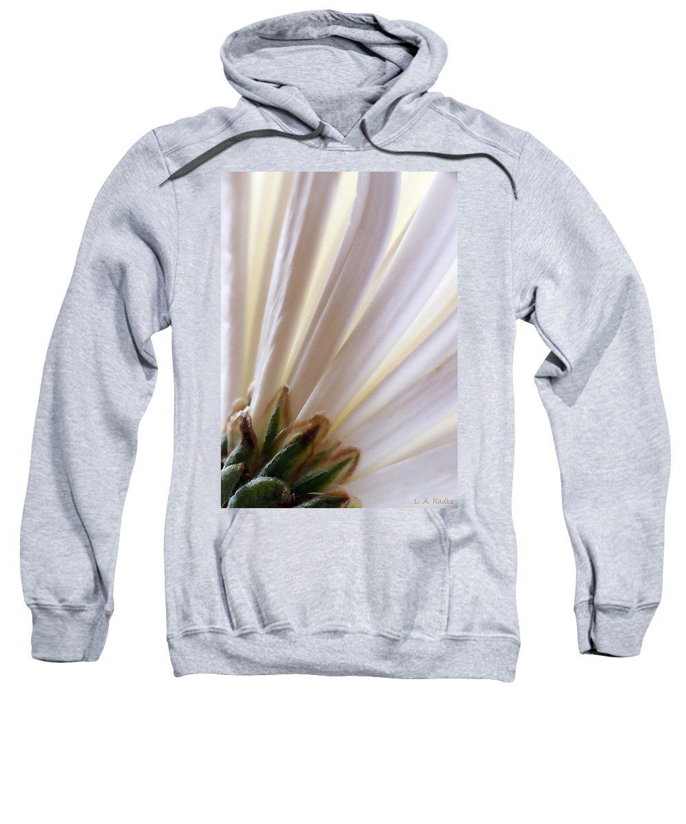 Macro Sweatshirt featuring the photograph Pure by Lauren Radke
