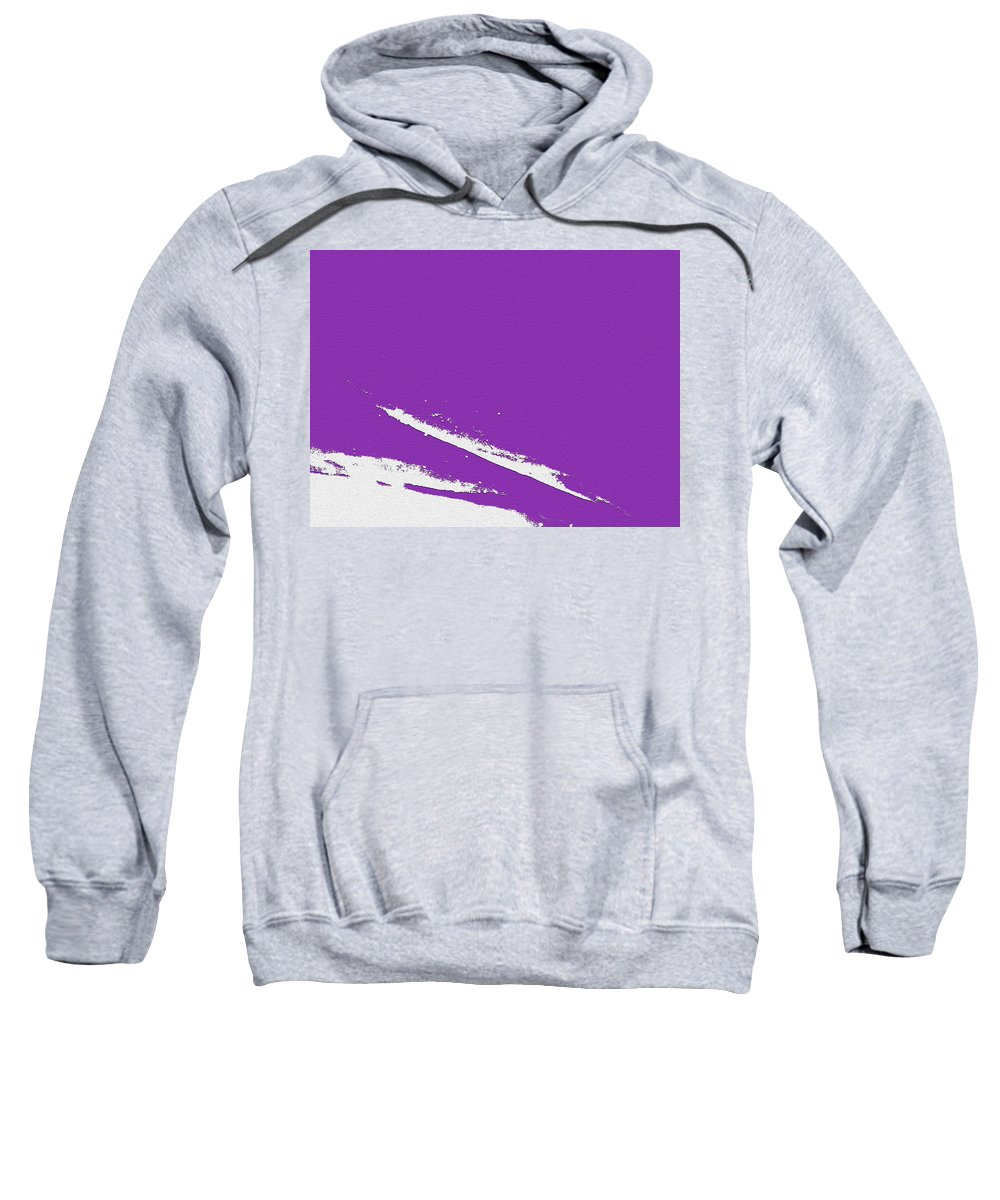 Purple Sweatshirt featuring the digital art Purple by Are Lund