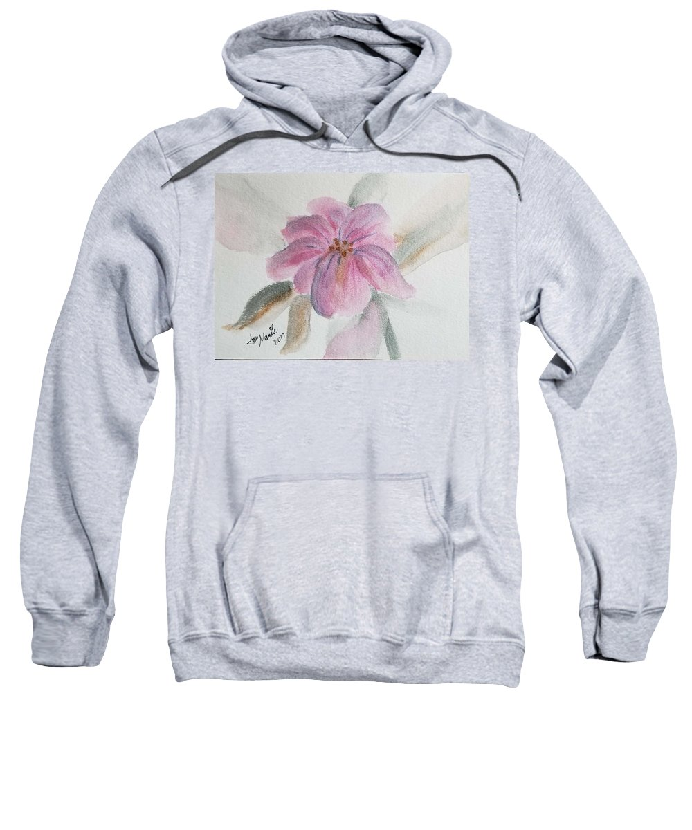 Sweatshirt featuring the painting Purple Bud by Jan Marie