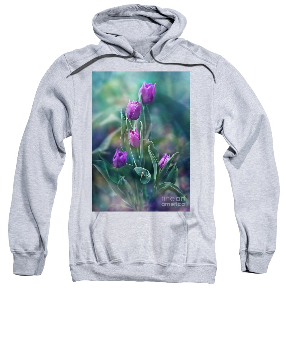 Nature Sweatshirt featuring the photograph Purple Dignity by Ezo Oneir