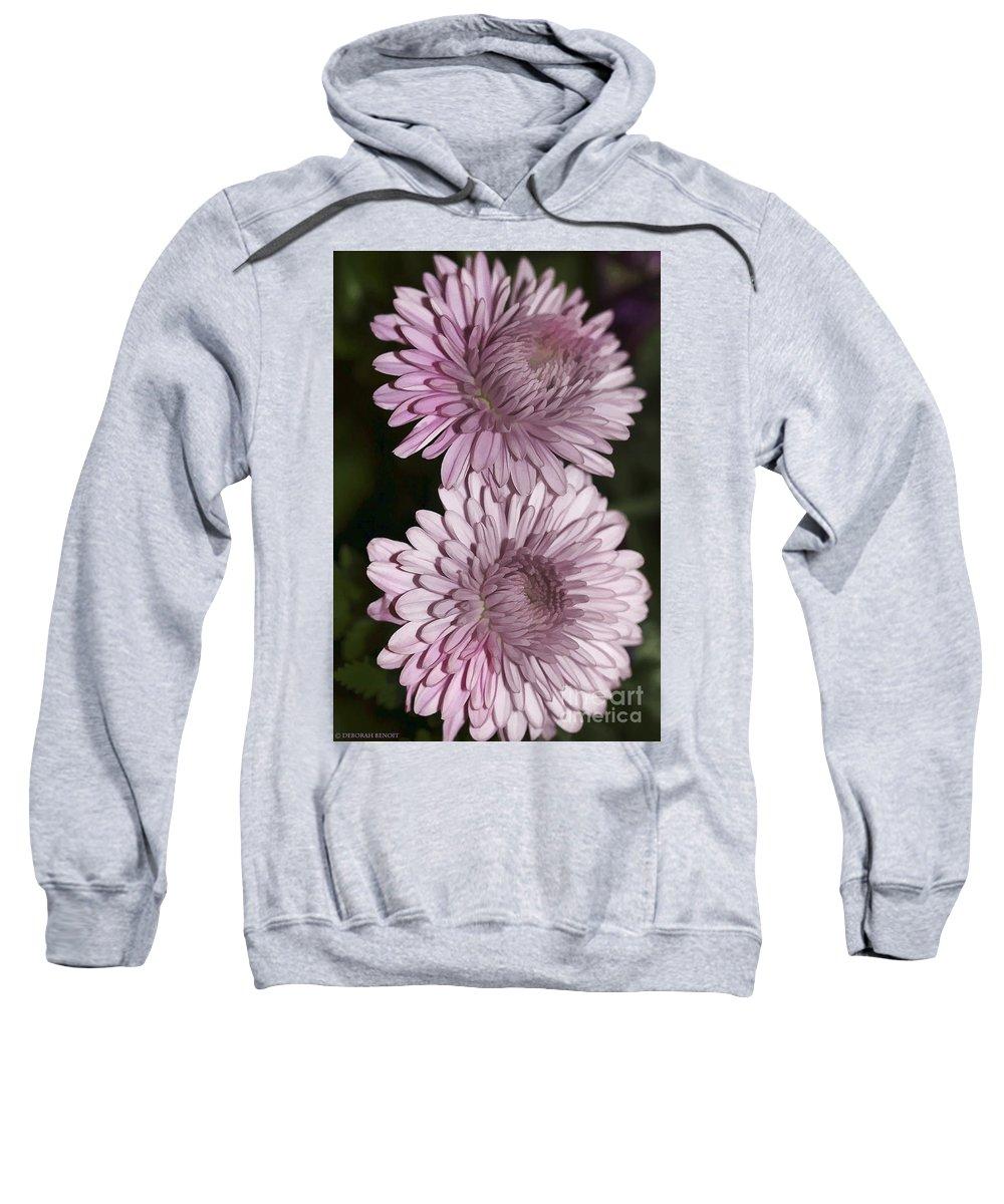 Flowers Sweatshirt featuring the photograph Purple Duo by Deborah Benoit