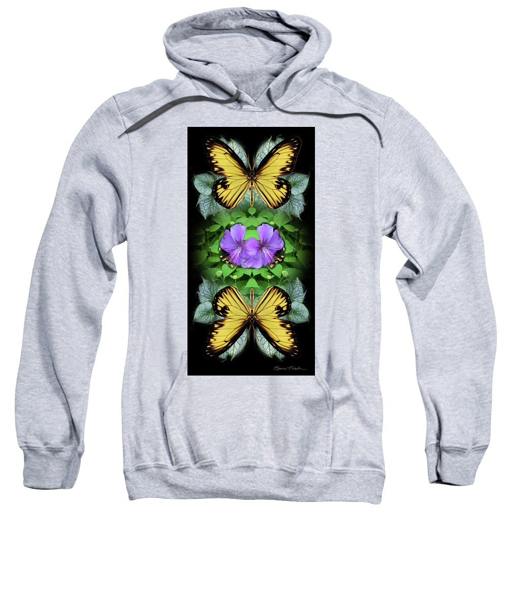 Botanical Sweatshirt featuring the photograph Purple Hibiscus by Bruce Frank