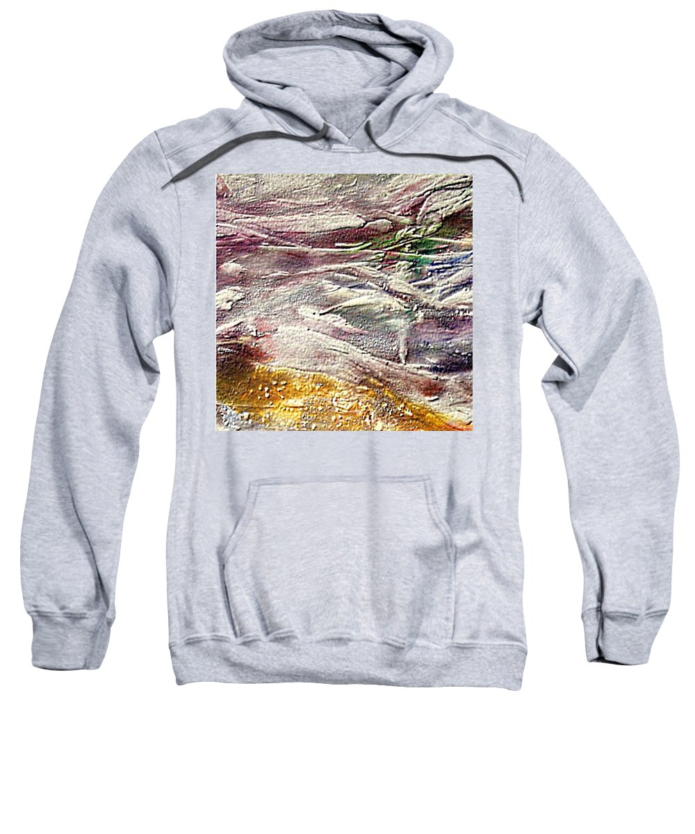 Purple Land Sweatshirt featuring the painting Purple Land by Dragica Micki Fortuna