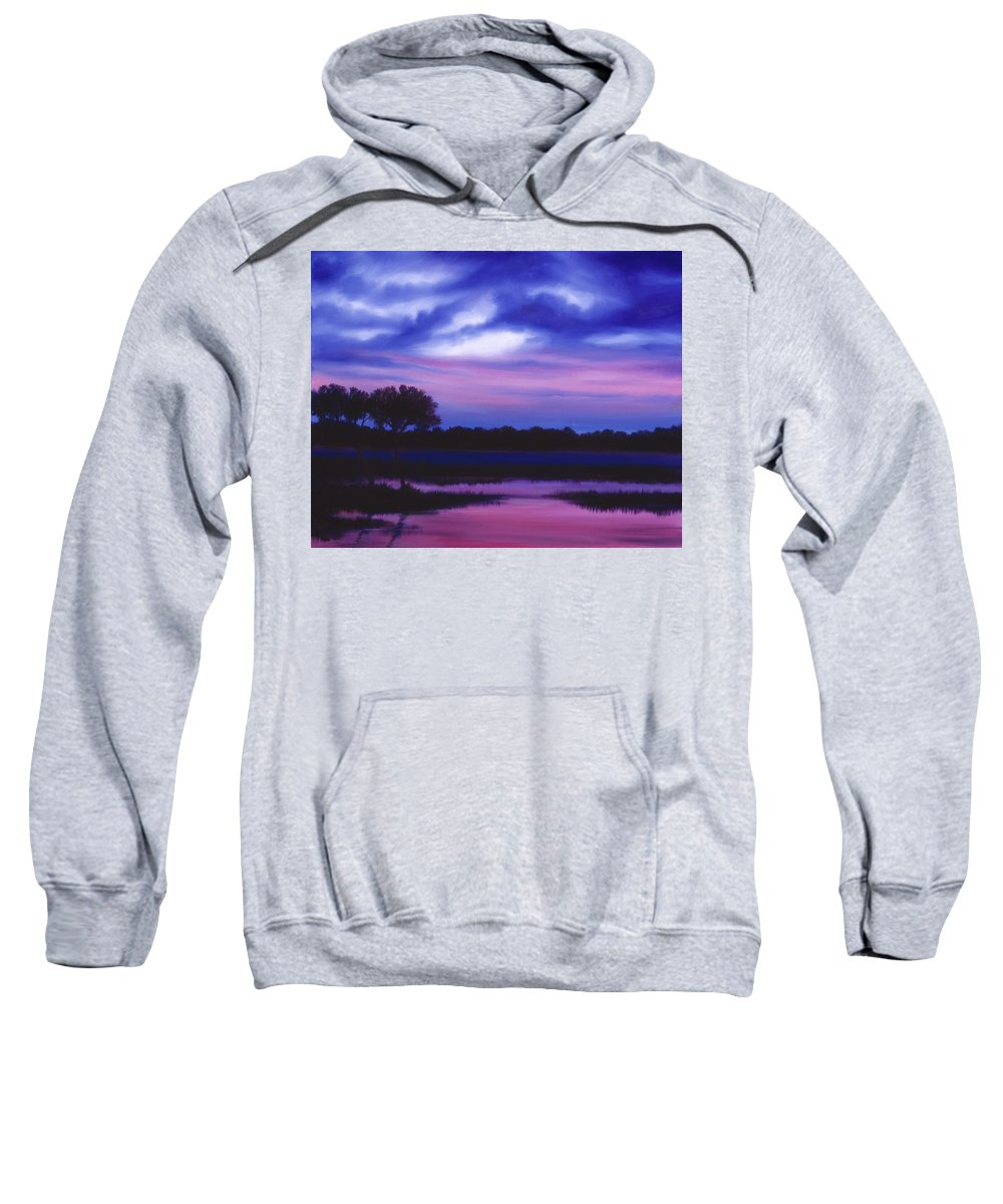 Sunrise Sweatshirt featuring the painting Purple Landscape Or Jean's Clearing by James Christopher Hill