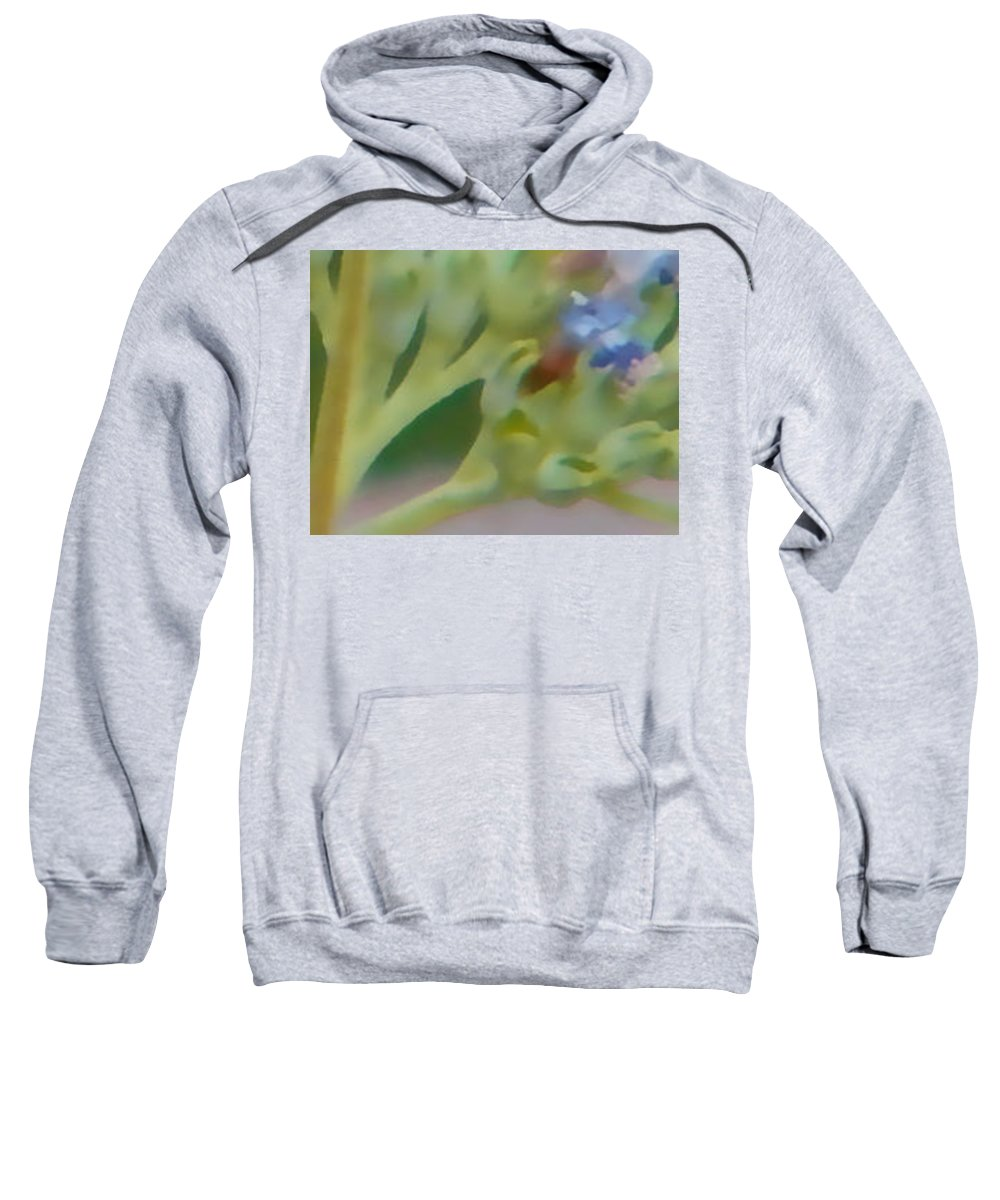 Abstracted Sweatshirt featuring the photograph Purple by Lenore Senior