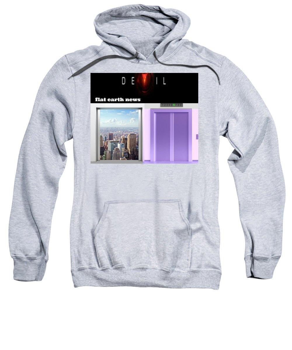 Purple Sweatshirt featuring the digital art Purple by Meiers Daniel