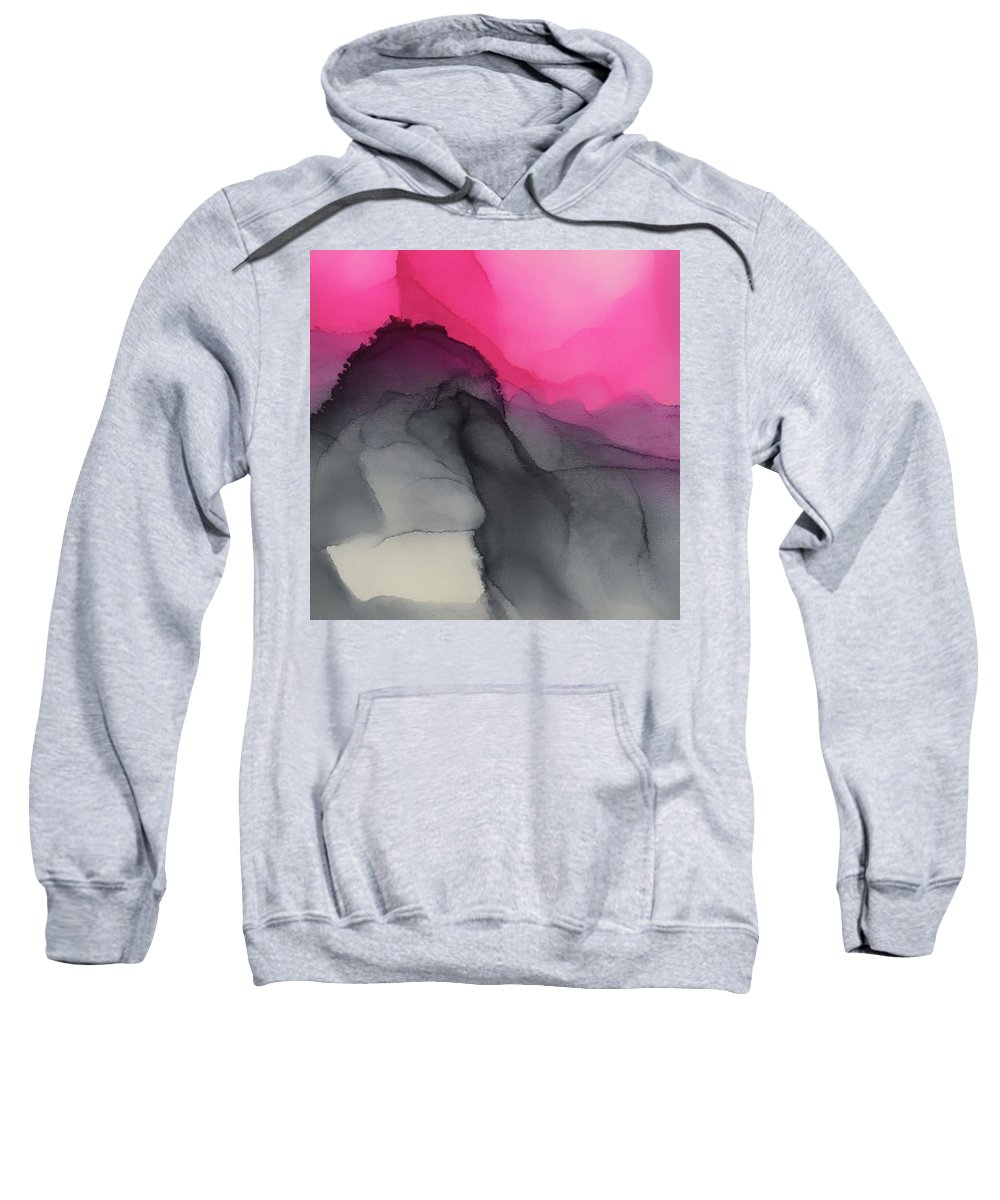 Mountains Sweatshirt featuring the painting Purple Mountains Majesty by Angela King-Jones