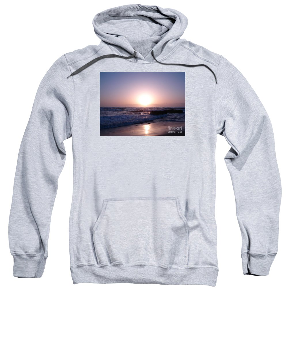 Sunset Sweatshirt featuring the photograph Purple Sunset by Madilyn Fox