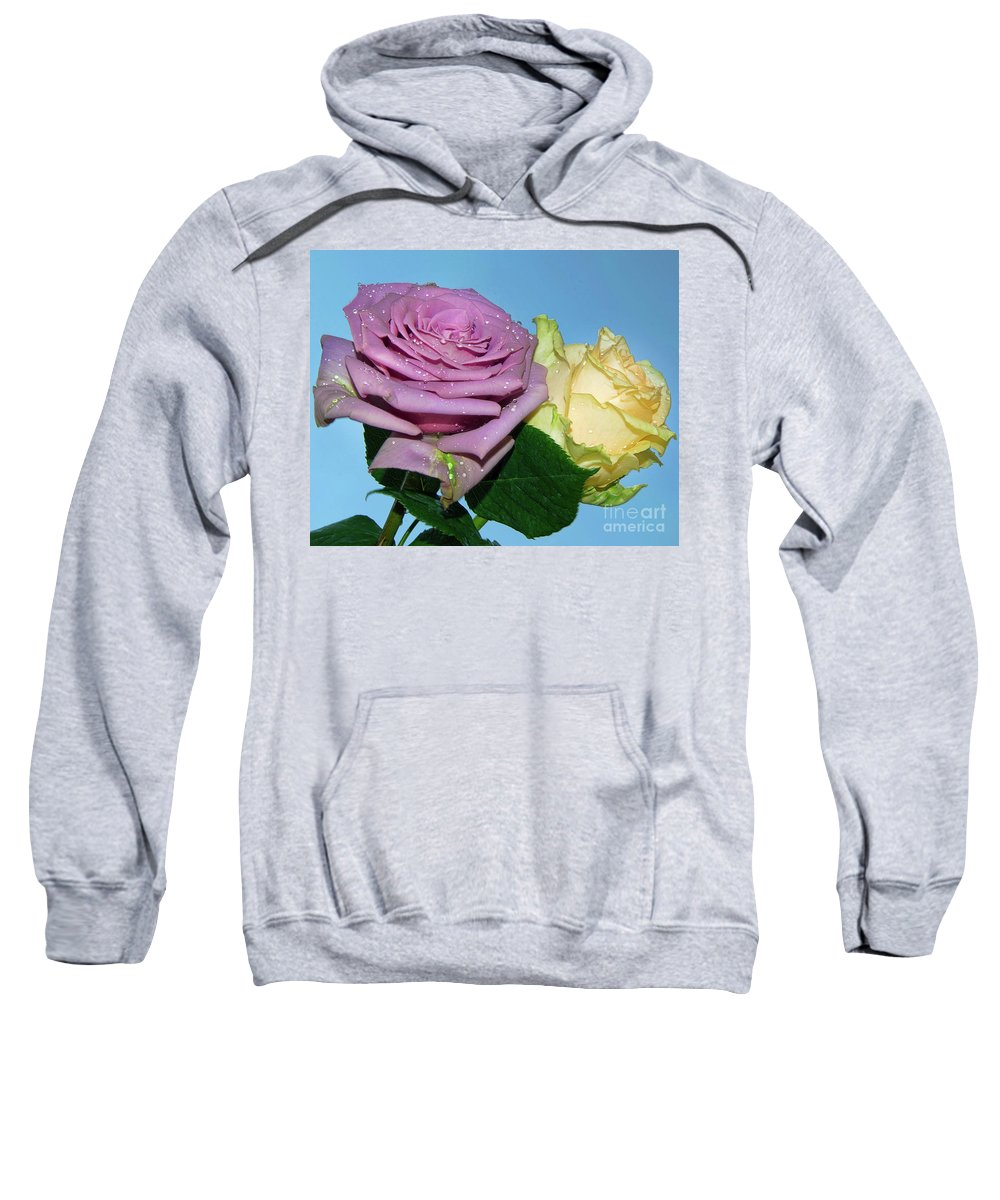 Flowers Sweatshirt featuring the photograph Purple With Yellow by Elvira Ladocki
