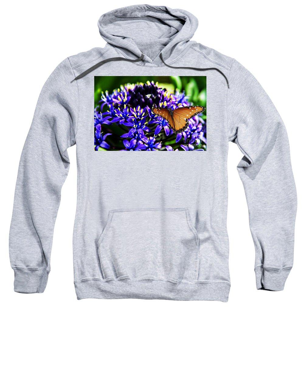 Purple World Sweatshirt featuring the photograph Purple World by Mariola Bitner