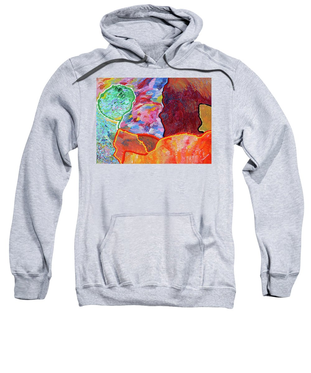 Fusionart Sweatshirt featuring the painting Puzzle by Ralph White