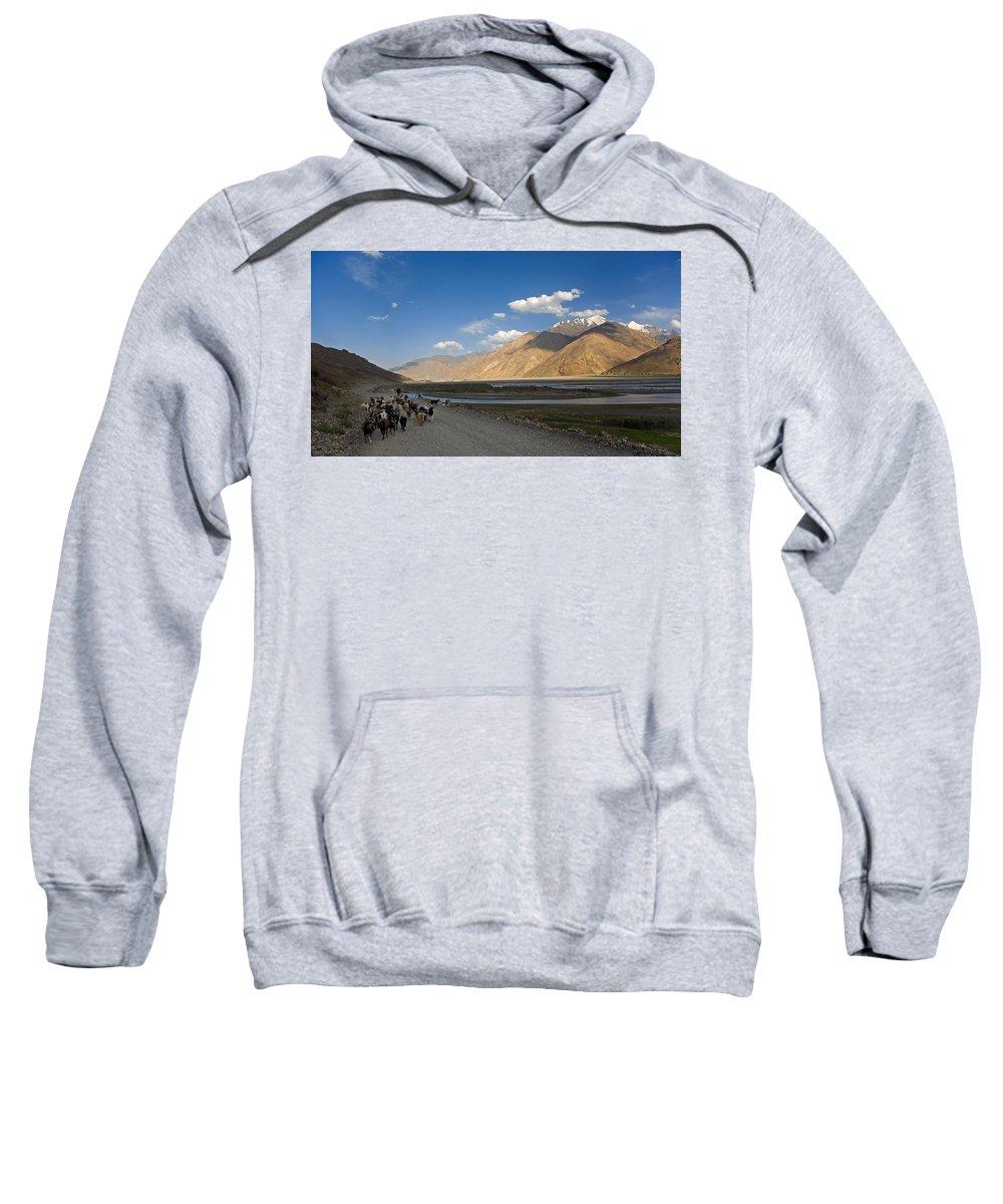 Animal Sweatshirt featuring the photograph Pyandzh Valley by Konstantin Dikovsky