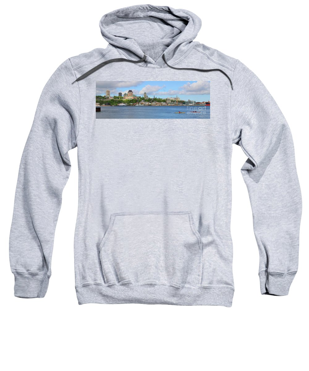 Quebec City Sweatshirt featuring the photograph Quebec City Waterfront 6320 by Jack Schultz