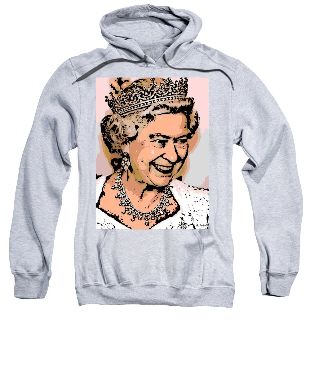 Queen Sweatshirt featuring the photograph Queen Of Diamonds by George Pedro