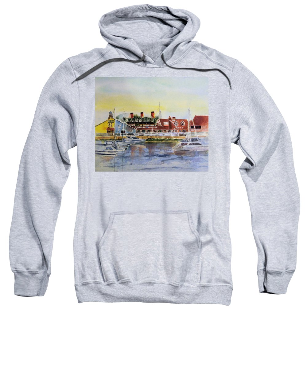 Watercolor Sweatshirt featuring the painting Queen Of The Shore by Debbie Lewis