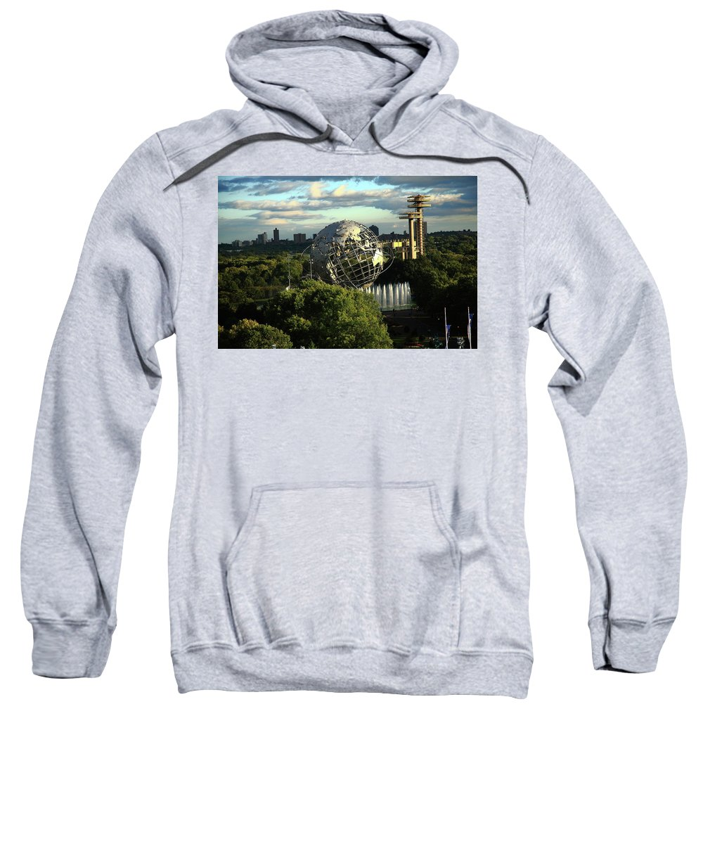 Poster Sweatshirt featuring the photograph Queens New York City - Unisphere by Frank Romeo