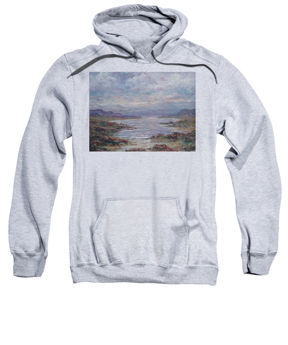 Painting Sweatshirt featuring the painting Quiet Bay. by Leonard Holland