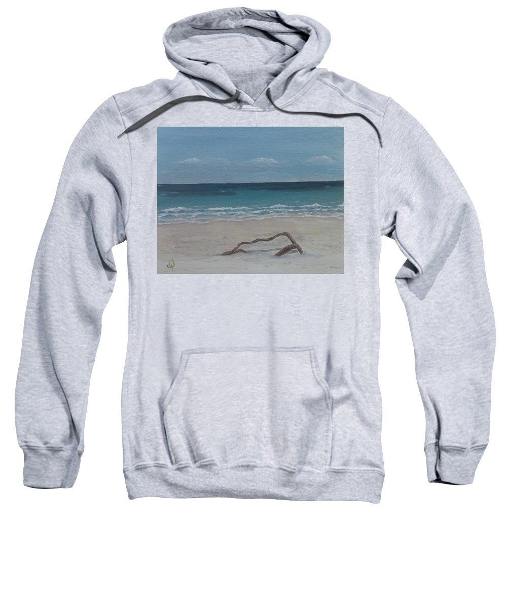 Seascape Sweatshirt featuring the painting #20 Quiet Perspective by Kimberley Gates