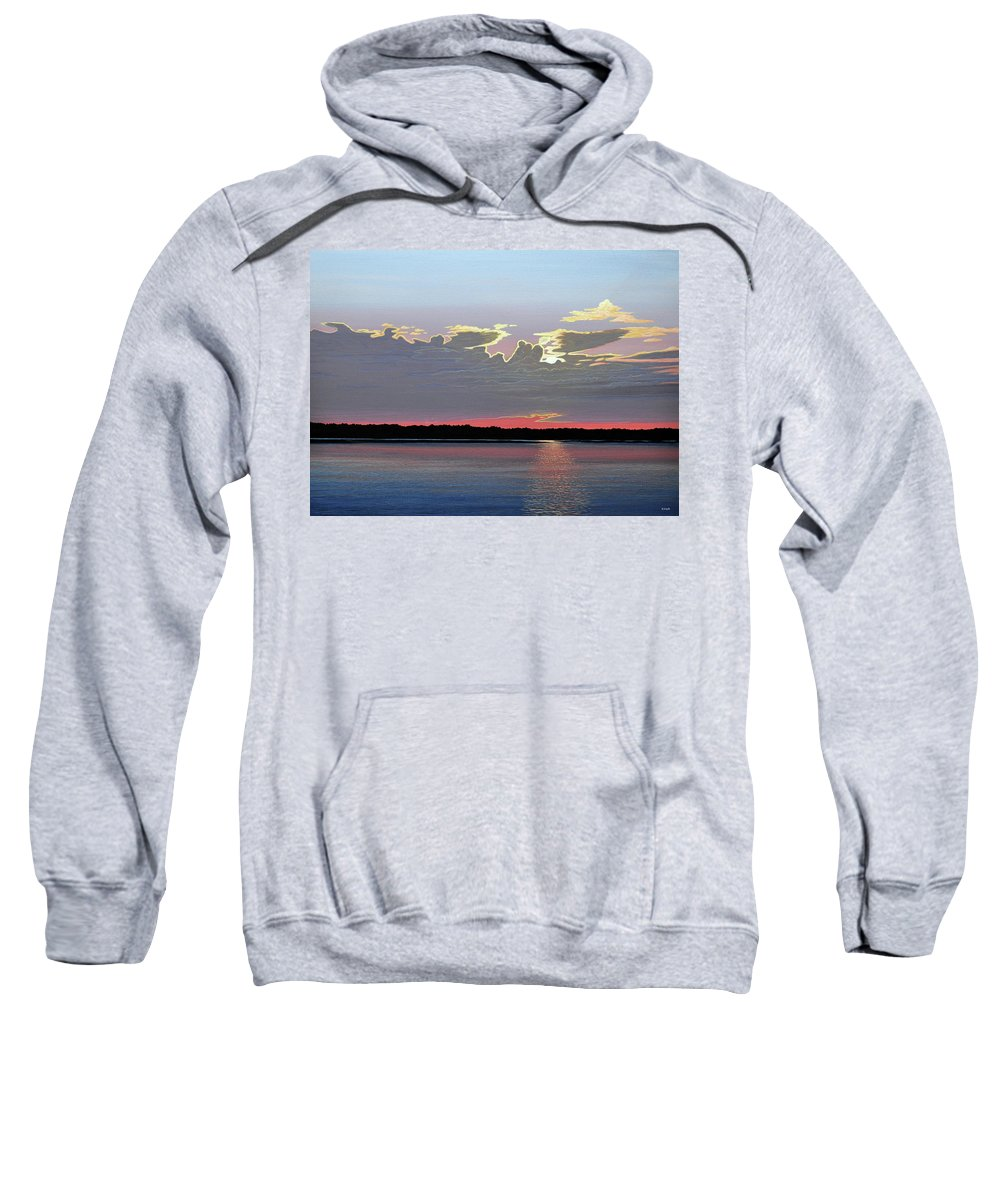 Landscape Sweatshirt featuring the painting Quiet Reflection II by Kenneth M Kirsch